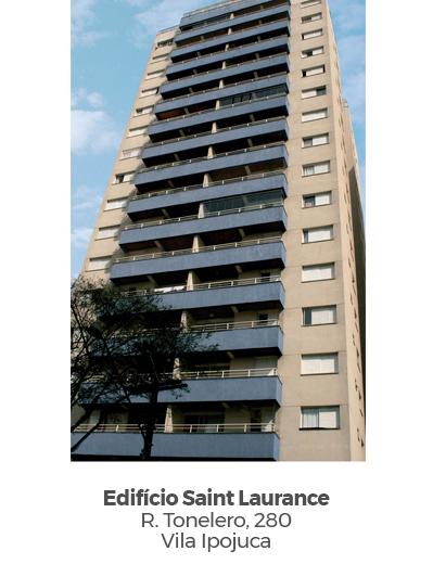 Edifício Saint Laurance, na Vila Ipojuca. Empreendimento entregue pela Paulo Guimarães