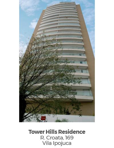 Tower Hills Residence, na Vila Ipojuca. Empreendimento entregue pela Paulo Guimarães