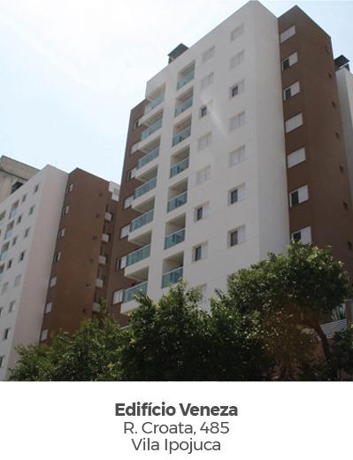 Edifício Veneza, na Vila Ipojuca. Empreendimento entregue pela Paulo Guimarães