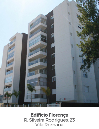 Edifício Florença, na Vila Romana. Empreendimento entregue pela Paulo Guimarães